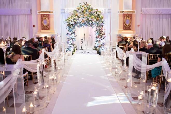 Lavender And White Wedding Reception We This Moncheribridals Com