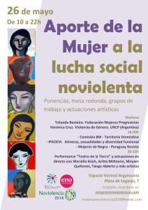 Jornada: Aporte de la mujer a la lucha social noviolenta