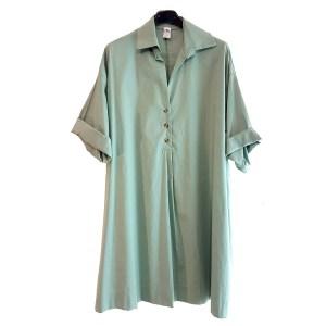 maxi camicia verde salvia