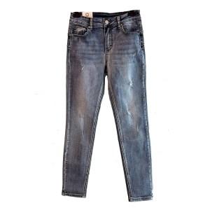 jeans skinny strappati