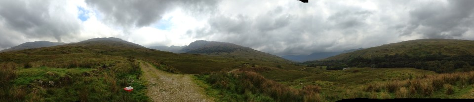 Panorama of the Scottish Highlands