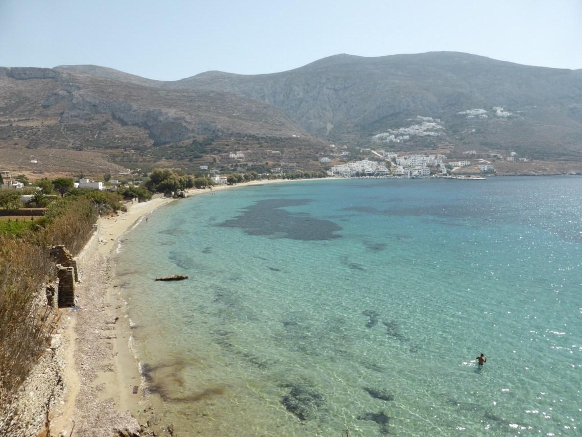 Vue sur la Baie d'Aegiali