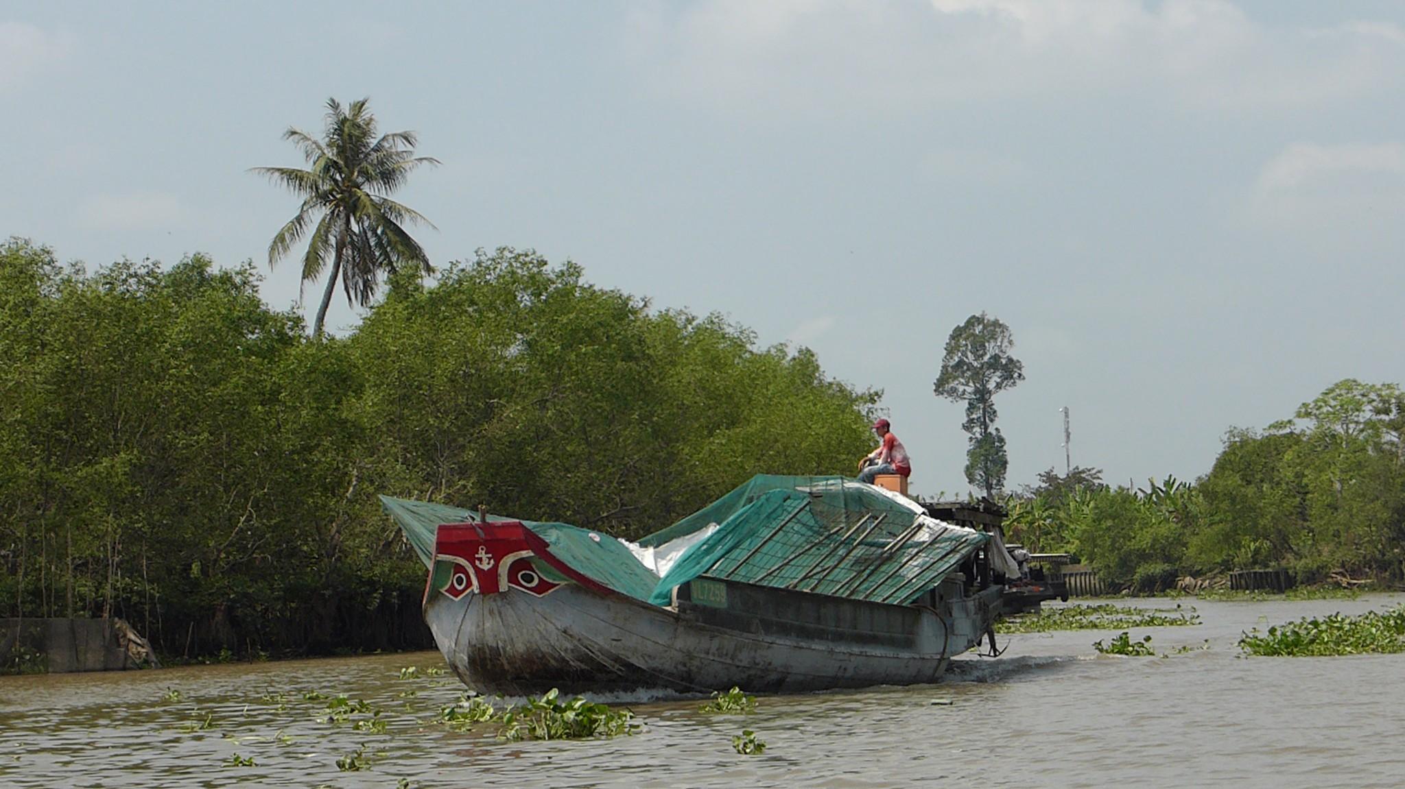 Bateau delta du Mekong