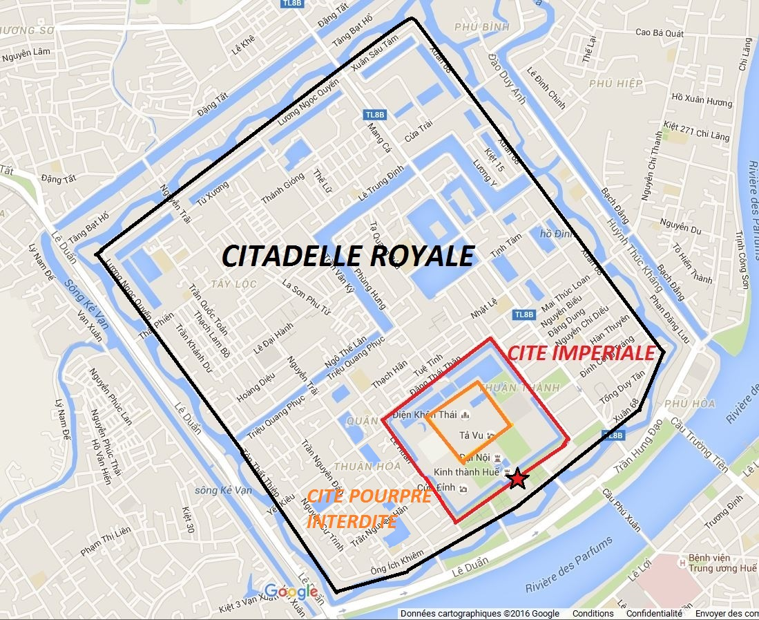 Plan citadelle royale cité impériale Hué