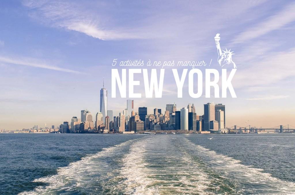 Top 5 activités New York