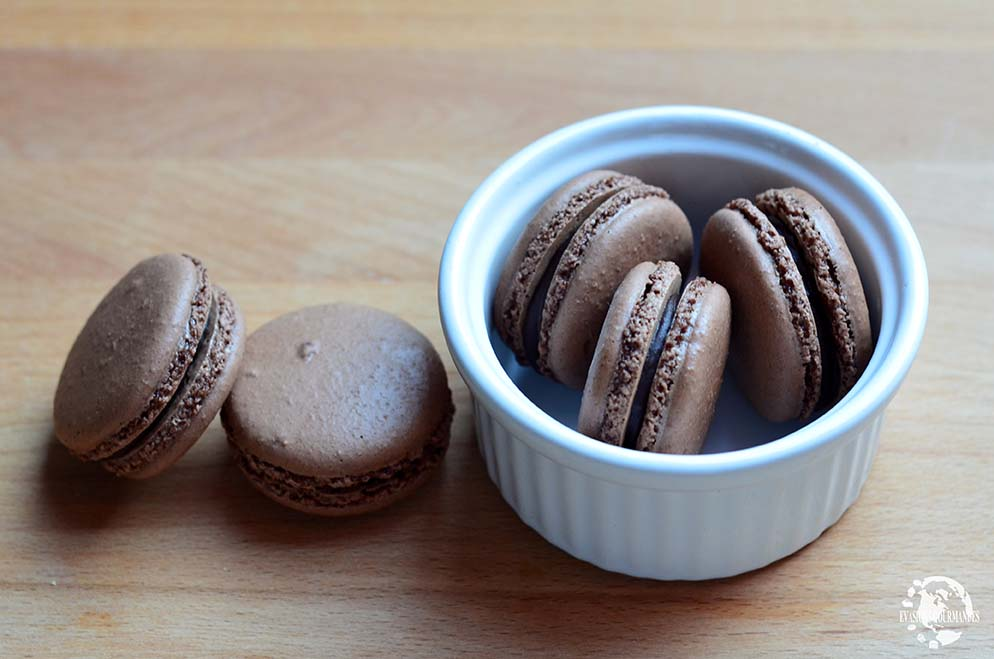 macarons au chocolat