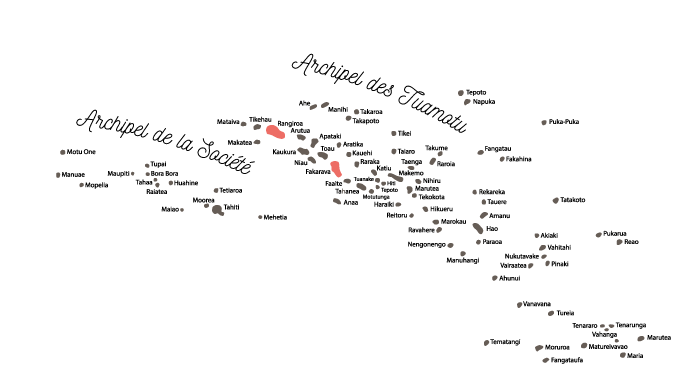 Carte Tuamotu