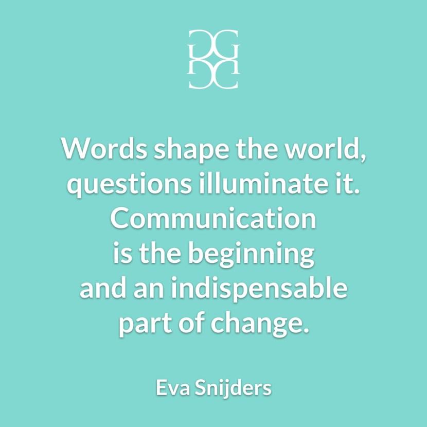 Eva Snijders Communication and change