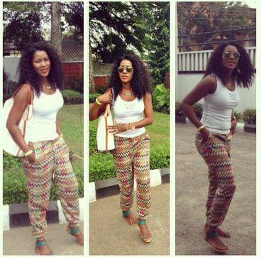 Stephanie Linus Idahosa in Ankara Pants