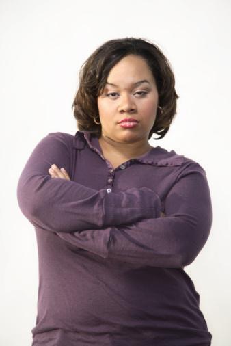 woman posing with attitude