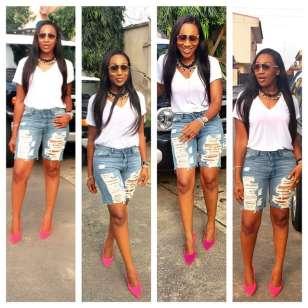 Ebube-Nwangbo-white-tee-with-shorts-evatese-blog