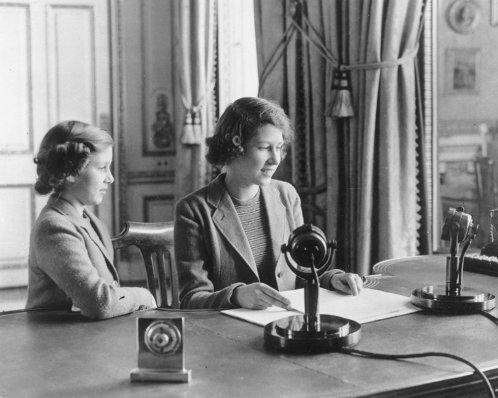 Princess Elizabeth makes her first radio broadcast