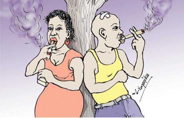 Man-woman-smoking
