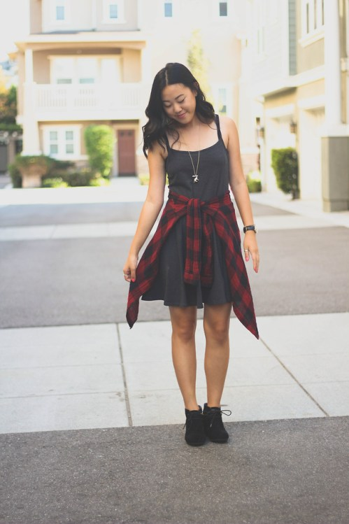 Little-Black-dress-with-Flannel (2)
