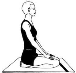 Vajrasana (lightning posture)