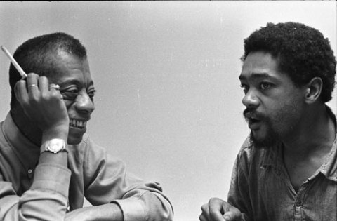 James Baldwin visits Bobby Seale in Alemeda County Jail