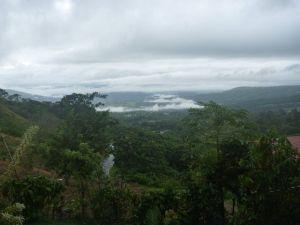 Uitzicht vanaf balkon Turrialba