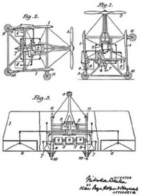 Nikola tesla - Aeéronautoique US 1665114