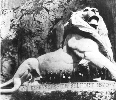 Bartholdi – Lion (maçonnique évidemment) de Belfort (1880)