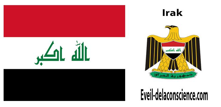 Irak - drapeau et sceau