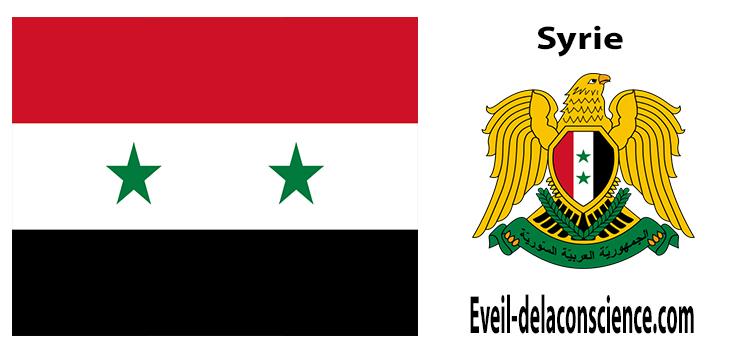 Syrie - drapeau et sceau