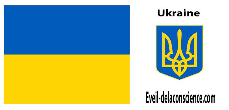 Ukraine - drapeau et sceau