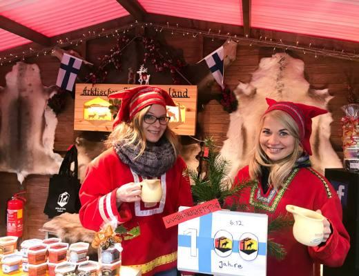 Leipzig hunajan myyntiä joulumarkkinoilla