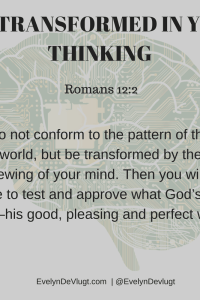 Transformed By The Renewing Of Our Minds