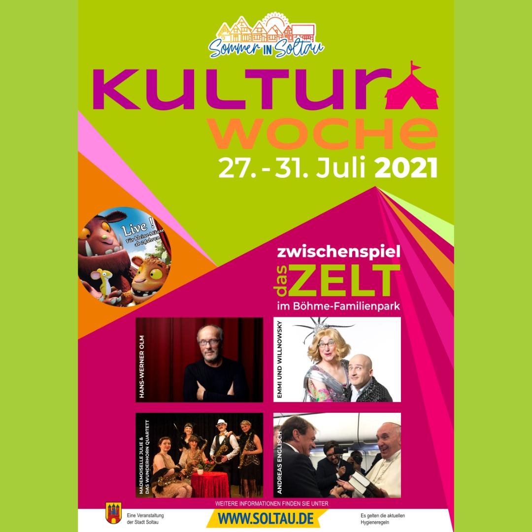 Das offizielle Plakat der Kulturwoche 2021