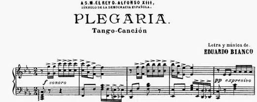 Tango argentin plegaria bianco partition