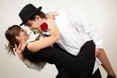 Tango dance rose à la bouche