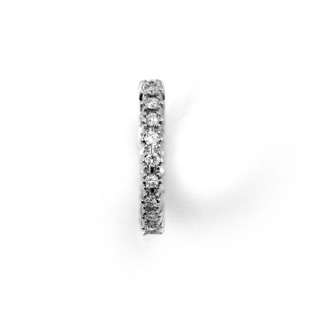 Alliance américaine diamants taille Brillant, 0,55 ct, serti griffes, or blanc | Réf. BA-B16674 | EVENOR Joaillerie • Bijoux neufs - Bijoux Vintage - Bijoux d'occasion