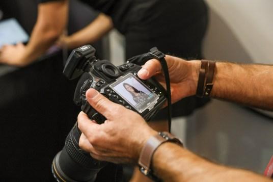 Back of camera headshot