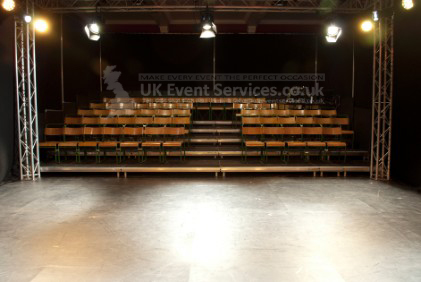 Event Stage Hire  professional tiered stage platforms