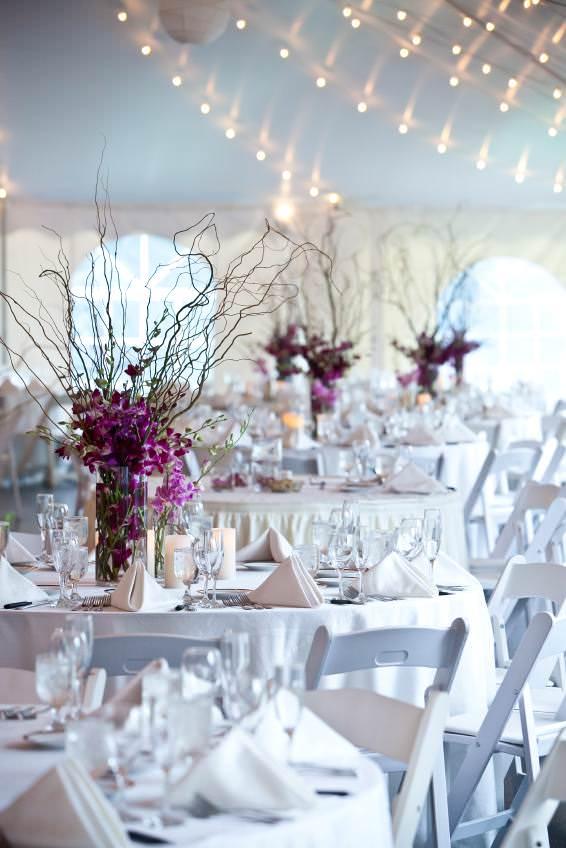 Tischdekoration hoch fr runde Tische  Event und Hochzeit