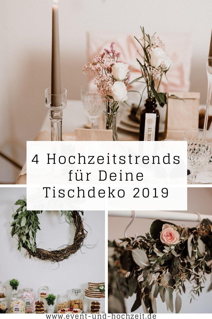 4 Hochzeitstrends der Tischdeko fr 2019  Stephanies