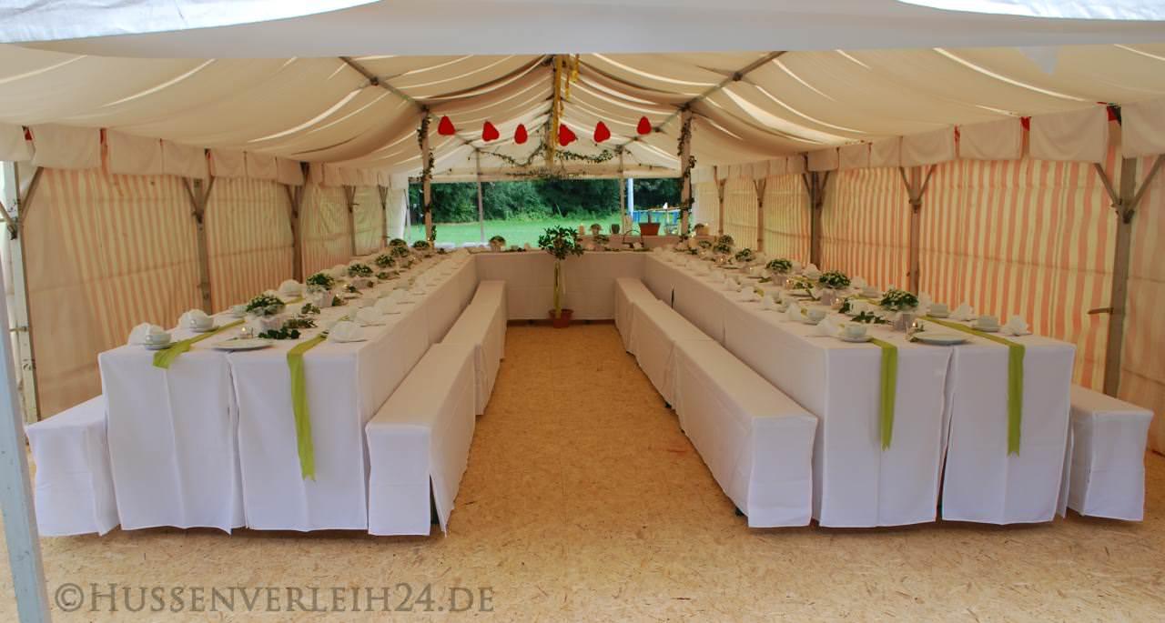Tischdeko Bierzeltgarnitur Hochzeit