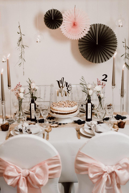 DIY Hochzeitsdeko BLUSH Trend  Stephanies