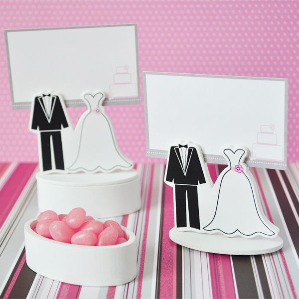 Bride and Groom Place Card Favor Box