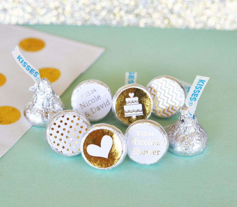 Wholesale Wedding Favors Party Favors by Event Blossom Personalized Metallic Foil Hersheys