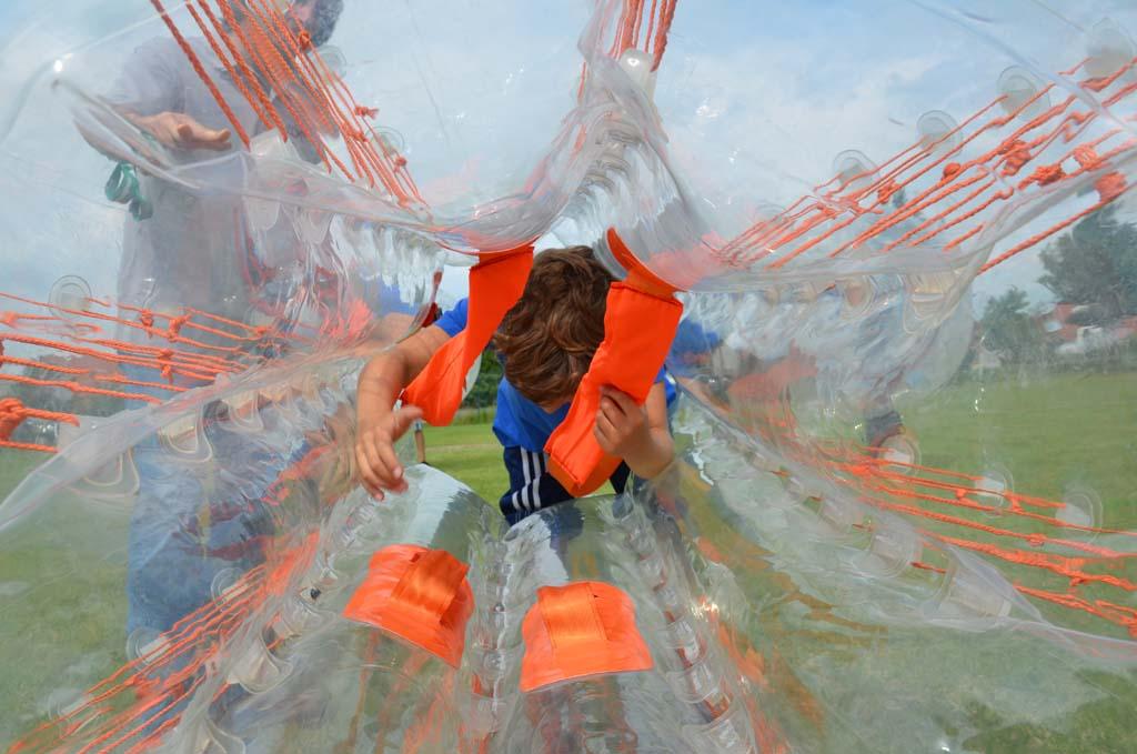 Sommerfest ErlebnisModul BubbleFuball  Eventcorner