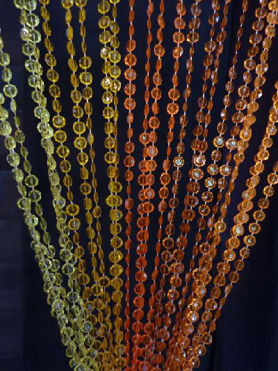 6ft Orange NonIridescent Diamond Cut Curtain