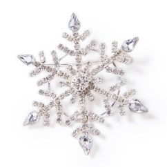Holiday Decorative Chair Covers Office Chairs Tulsa Diamond Winter Snowflake Brooch In Silver Share To
