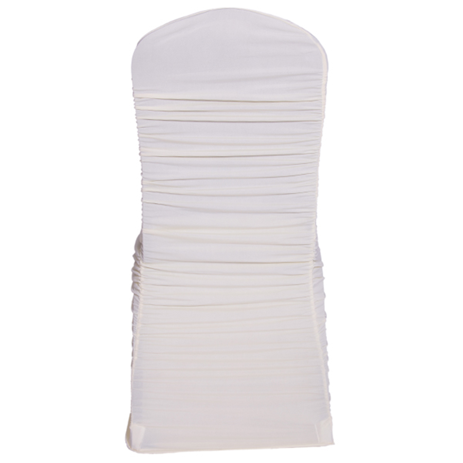 ivory ruched chair covers folding types for weddings