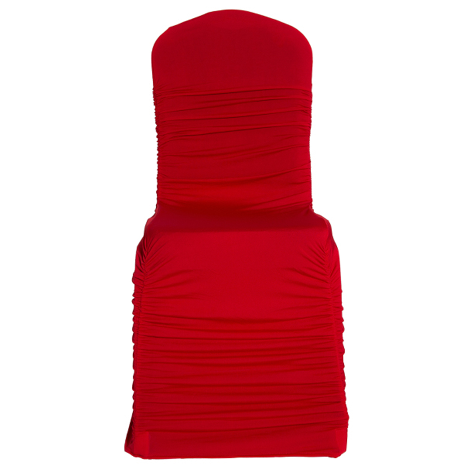 ruched spandex chair cover notre dame office covers red wedding reception