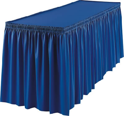 Poly Knit Table Skirt  Cloth Table Skirts  Event Dcor