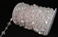 Large Gemstone Iridescent Crystal Bead Strand - 60ft. Roll