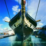 Front of the hull of Brunel's ss Great Britain
