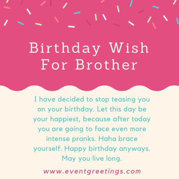 Anniversary Wishes For Brother And Bhabhi Quotes: Happy Birthday Brother Wishes