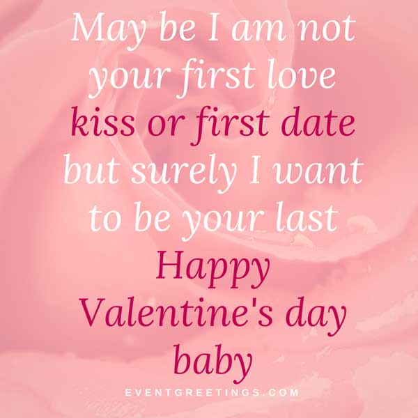 Happy Valentines Day I Love You Baby Happy Valentine's Da...